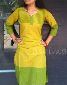 Cotton Kurta-Code 0405150 Rs.690/- All sizes available. Free shipping to all courier destinations in India. Online payment through PayUMoney / PayPal Salwar Neck Designs, Churidar Designs, Tunic Designs, Dress Neck Designs, Salwar Pattern, Kurta Patterns, Everyday Casual Outfits, Simple Outfits, Simple Kurta Designs