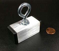 "1 Large Neodymium Magnet Rare Earth Treasure Hunt 2"" x 1"" Fishing Lure 20 lb  | eBay"