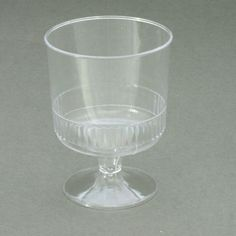 40 x Wine Glasses/Cups on Stem Disposable Plastic 142ml/5oz - UK Party Supplies
