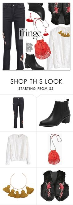 """""""Shimmy Shimmy: Fringe"""" by ansev ❤ liked on Polyvore featuring Chicwish and Rebecca Minkoff"""