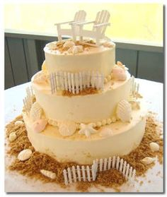 beachy wedding cake picture