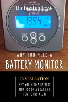 A battery monitor keeps you from getting low before you know it. Here are DIY instructions and info about how we chose this monitor. Boat Projects, Easy Projects, Living On A Boat, Cooking Videos, Water Crafts, Step By Step Instructions, Cooking Timer, Tiny House, Monitor