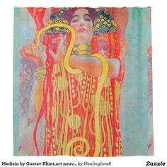 Medizin By Gustav Klimtart Nouveauvintagedeco Shower Curtain