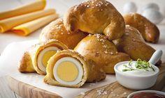 Wielkanocne rogaliki Drożdżowe rogaliki z jajkiem