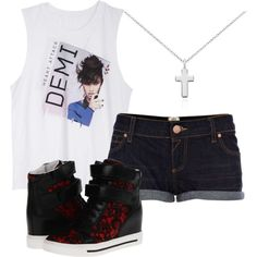 """For Lovatics :D"" by foreverharrystyles on Polyvore! I NEED THIS.. Not a want but a need"