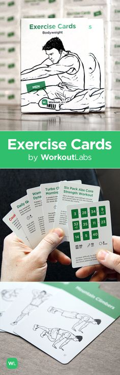 Simlpe workouts on the go. Visit http://Workoutlabs.com/exercise-cards to get your Exercise Cards deck.