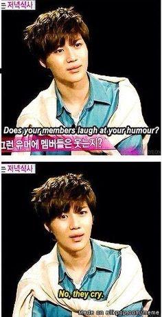 Taemin's infamous sense of humor.