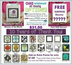 Great graphic for the march warmer of the month deal.