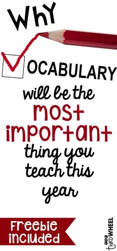 Awesome Ideas for Teaching Vocabulary - Both elementary & middle school…