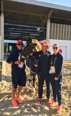 Charlotte Dujardin and Valegro with their team