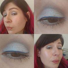 Guten Morgen  Ich weiß nicht was gestern mit dem Licht los war... Auf jeden Fall habe ich wieder die #katvond #alchemistholographicpalette und zwar #saphyre getragen, auf einer hellen taupe Base von #p2 #katvondmakeup #katvondbeauty #p2cosmetics #dm_p2cosmetics #eyesoftheday #eotd #eyes #eyemakeup #amu #augenmakeup #eyelook #makeupoftheday #face #faceoftheday #fotd #selfie #selfies #goodmorning #gutenmorgen #katvondalchemist