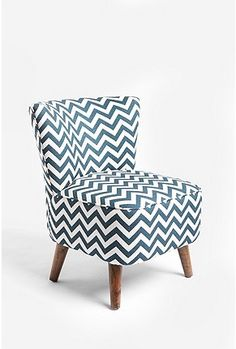 I love the chevron pattern on this chair.