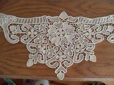 Macrame Table Cloth,Centerpiece, Bulgaria,100/38 cm/39,27/14,96 Point Lace Style Crochet Doily Floral Pattern size 100/38 cm/39,27/14,96 color ekru