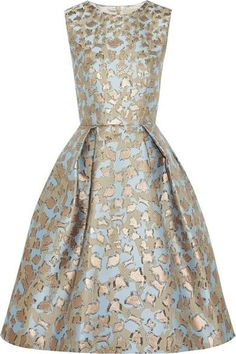 Mary Katrantzou metallic leopard print on blue