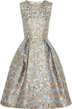 Mary Katrantzou metallic leopard print on blue