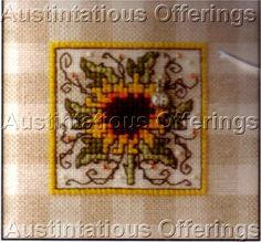Sunflower on Gingham Sweetheart Tree Cross Stitch Kit