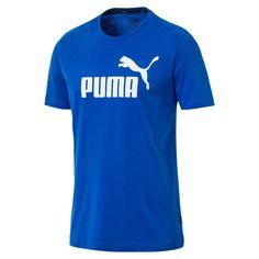Puma Shirts, Tee Shirts, Logo Puma, Logo Azul, Mens Essentials, Puma Mens, Herren T Shirt, Logos, Mens Tees
