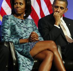 President Obama Is Totally Checking Out Michelle's Legs