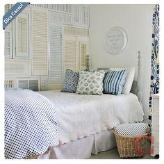 #Inspiração: almofadas saem da sala para ficar nos quartos. Com estampas e tamanhos diferentes, o que conta é combinação do padrão de cores.