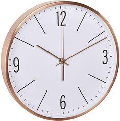 Eine sehr schöne, lautlose Uhr Küche, Haushalt & Wohnen, Möbel & Wohnaccessoires, Wohnaccessoires & Deko, Uhren & Wecker, Wanduhren Clock, Wall, Home Decor, Vintage, Copper, Wall Of Frames, Metal Frames, Home Decor Accessories, Household