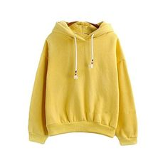 Harajuku Pastel Yellow Candy Color Hoodies Sweatshirts fo