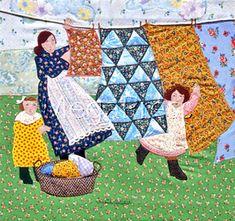 Arlette Gosieki, laundry quilt