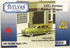 Sylvan-1-87-HO-1951-Pontiac-Station-Wagon-Resin-Model-Kit-V-216-NEW