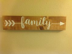 Family+ARROW+Typography+Word+Art+Wood+Sign+by+DandelionSignShop