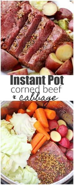 Instant Pot Corned Beef and Cabbage is a hearty, comfort meal that can be enjoyed any time of year. Not just on St.Patrick's Day! via patricks day dinner ideas corned beef recipes Instant Pot Corned Beef and Cabbage Cooking Corned Beef, Corned Beef Hash, Corned Beef Recipes, Cabbage And Potatoes, Corn Beef And Cabbage, Cabbage Recipes, Chicken Recipes, Cooked Cabbage, Instant Pot Pressure Cooker
