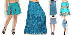 """Calming Blue!"" Awesome list on #skirts #cotton by @garimalsr #fashion"
