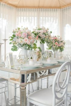 This love story unfolds with cascading florals in soft hues and geometric accents to harmonized the modern marble wedding theme. Fur, lace...