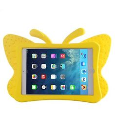 For+iPad+Mini+1/2/3+Yellow+Butterfly+EVA+Protective+Case+with+Holder