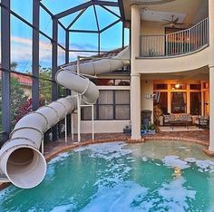 Home indoor pool with bar  33 Mega-Impressive swim-up pool bars built for entertaining ...