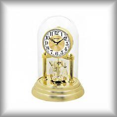Elegantní stolní - krbové hodiny Rhythm Matcha, Clock, Watch, Clocks