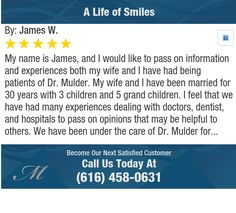 My name is James, and I would like to pass on information and experiences both my wife and...