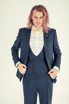 Original Three Piece Suit in Navy Blue.