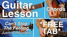Can't Stop The Feeling   Justin Timberlake   Guitar Lesson   EASY CHORDS...