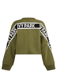 Amazing Kakhi Tape Logo Cropped Sweatshirt from Ivy Park find it on Fashercise.com now !