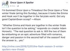 Once Upon A Time midseason #CaptainSwan spoiler