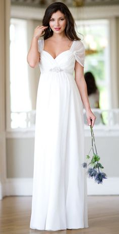 Silk Sophia Maternity Wedding Gown (Ivory)