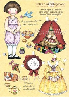 Mary Engelbreit Home Companion Paper Doll Sheet Little Red Riding Hood ... in my shop now!