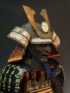 Kozane dou (dō) gusoku, are samurai armours with a lamellar cuirass constructed from individual scales (kozane), old fashioned armours used before the introduction of firearms in Japanese warfare, (pre-Sengoku styles). Guerrero Samurai, Samurai Helmet, Samurai Armor Diy, Samurai Warrior Tattoo, Real Samurai, Traditional Japanese, Geisha, Japanese Warrior, Japanese Sword