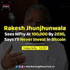 Marketing Maverick   Business (@marketingmaverick.in) posted on Instagram • Feb 23, 2021 at 3:32pm UTC Rakesh Jhunjhunwala, Stock Market, Nifty, Wealth, Investing, Marketing, Sayings, Business, Instagram