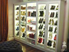 shoe closet! better than books :)