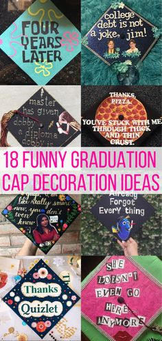 Decorating your cap for graduation is becoming a tradition for many college students. Here are 30 of the best funny graduation cap ideas! Funny Graduation Caps, Funny Grad Cap Ideas, College Gifts, College Hacks, Free Dobby, Hogwarts Letter, Graduation Cap Decoration, Cap Decorations, Best Money Saving Tips