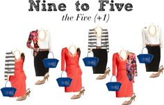 """""""Nine to Five - the Five (+1)"""" by boardroombelles on Polyvore"""