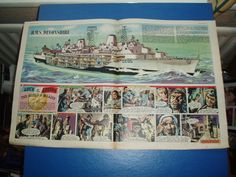 EAGLE CUTAWAY DRAWING 7/1/1961 HMS DEVONSHIRE GUIDED MISSILE DESTROYER VGC in Books, Comics & Magazines, Comics, UK Comics & Annuals | eBay