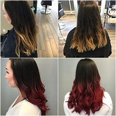 Red/purple ombre/bolayage. My goal is more of a plum color, getting there soon enough. So happy though, love this hair color!