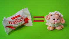 how to make SHEEP RAFFAELLO CAKE TOPPER FONDANT - tutorial pecorella pas...