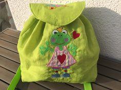 """Kinderrucksack """"Fräulein Frosch"""" von siebenbruecki auf DaWanda.com"""